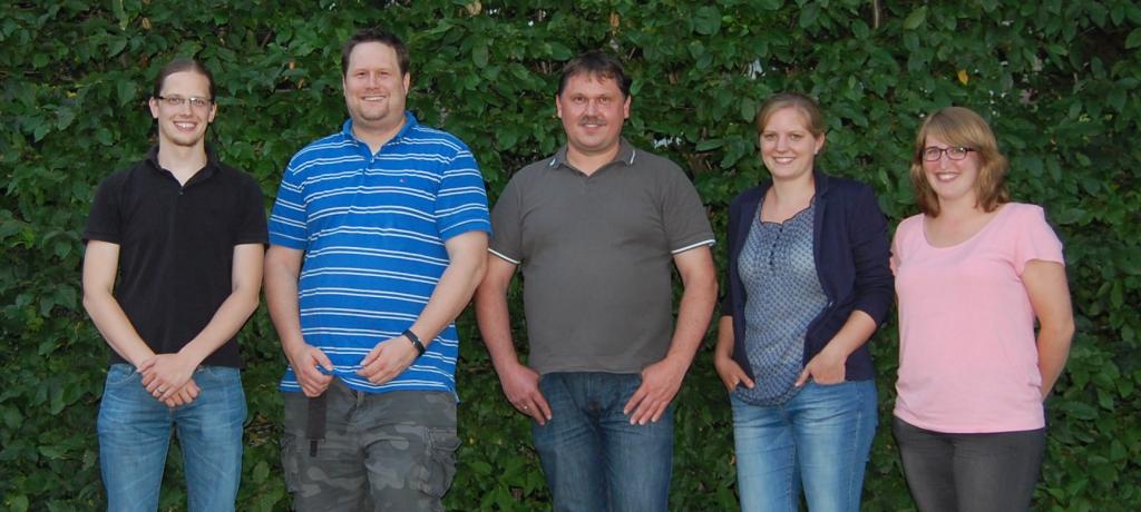 Der Vorstand v.l.: Fabian S., Christian B., Johannes K., Lina-Marie T., Katrin S.