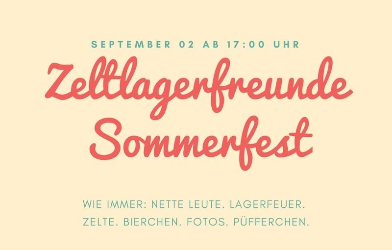 Zeltlagerfreunde Sommerfest