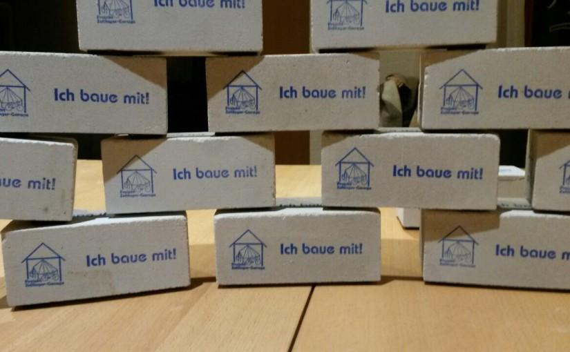 Projekt Zeltlagergarage: Bausteinverkauf